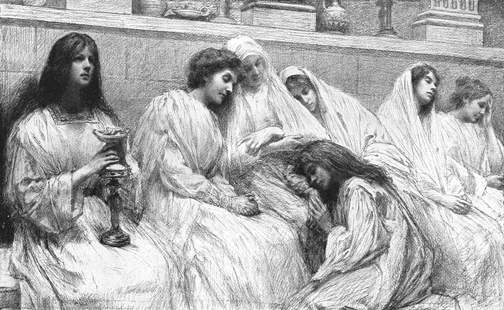 Parable of the 10 Bridesmaids by Eugene Burnand